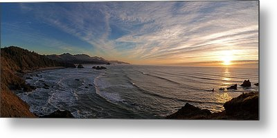 Cannon Beach Sunset Metal Print by Mike Reid
