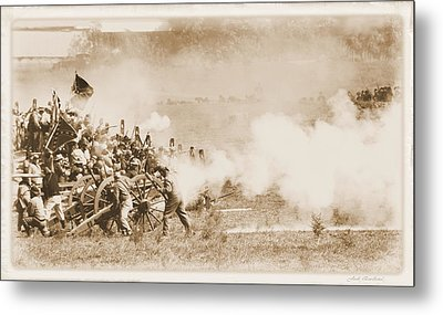 Metal Print featuring the photograph Cannon Fire by Judi Quelland