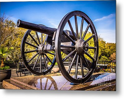 Cannon In New Orleans Washington Artillery Park Metal Print