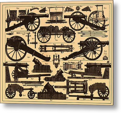 Cannon Makes And Styles 1895 Metal Print by Mountain Dreams