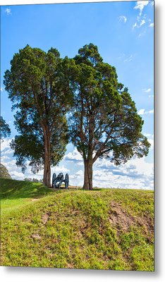Cannon On A Hill Metal Print by John M Bailey