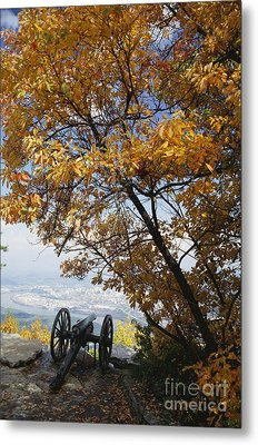 Cannon On Top Of Lookout Mountain Metal Print