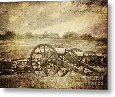 Cannons At Pea Ridge Metal Print