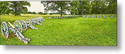 Cannons In A Park, Valley Forge Metal Print by Panoramic Images