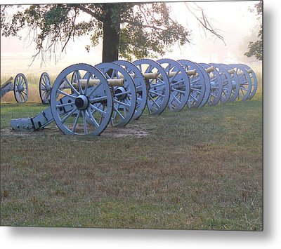 Cannon's In Fog Metal Print by Michael Porchik