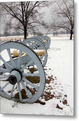 Cannon's In The Snow Metal Print