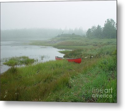 Metal Print featuring the photograph Canoe At Point Of Maine by Christopher Mace