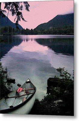 Canoe Day Metal Print