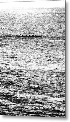 Canoe Glitter Metal Print by Sean Davey