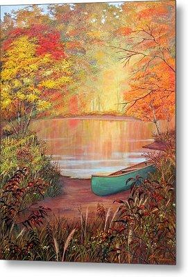 Canoe Landing  Metal Print by John Samsen