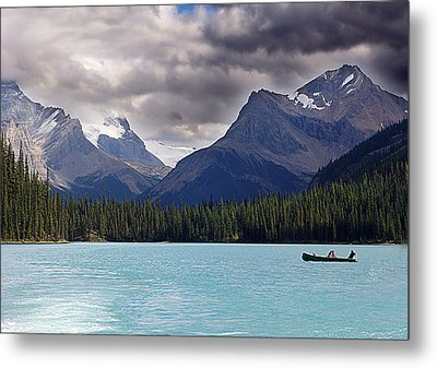 Canoeing In Paradise Metal Print