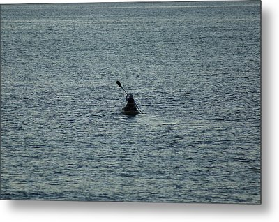 Metal Print featuring the photograph Canoeing In The Florida Riviera by Rafael Salazar