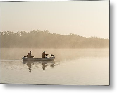 Canoeists At Dawn Everglades Np Florida Metal Print by Scott Leslie