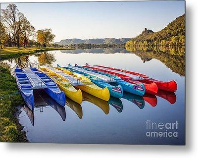 Canoes Color 2x3 Metal Print by Kari Yearous