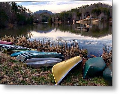 Canoes In Nc Metal Print