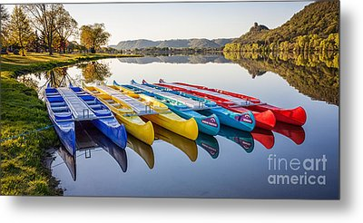 Metal Print featuring the photograph Canoes In The Early Morning II by Kari Yearous