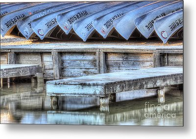 Canoes Ready For Dispatch Metal Print