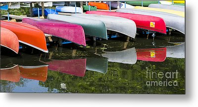 canoes - Lake Wingra - Madison  Metal Print