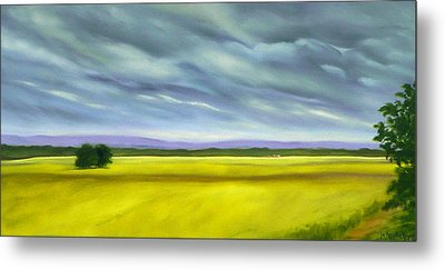 Metal Print featuring the painting Canola by Jo Appleby