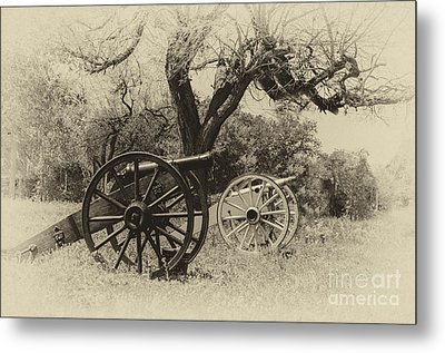 Canons In The Field Metal Print