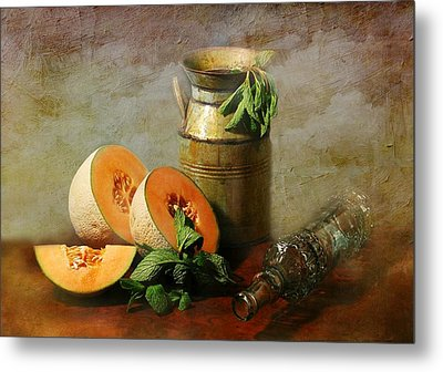 Cantaloupe Metal Print by Diana Angstadt