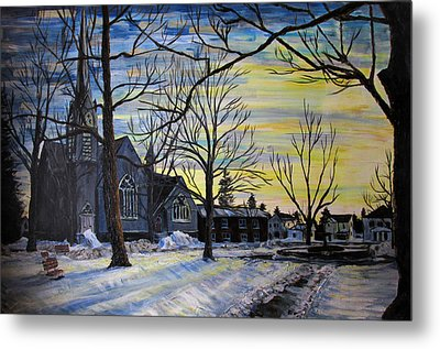 Canton Park Under January Sun Metal Print by Denny Morreale