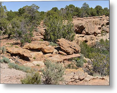 Canyon De Chelly - A Blend Of Cultures Metal Print by Christine Till