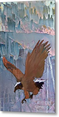 Canyon Flight Metal Print by Ursula Freer