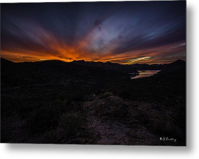 Canyon Lake Sunset Metal Print by Bill Cantey