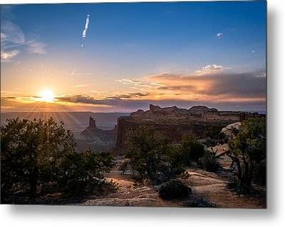 Canyon Lands Beautiful Sunset Metal Print by Michael J Bauer