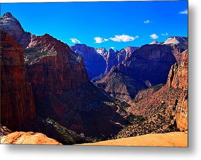 Canyon Overlook Trail Metal Print