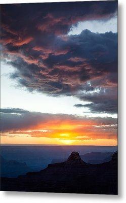 Canyon Sunset Metal Print by Dave Bowman
