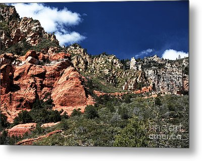 Canyon View Metal Print by John Rizzuto