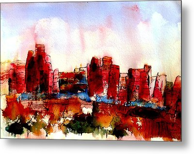 Metal Print featuring the painting Canyonlands 02 by Anne Duke