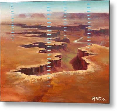 Metal Print featuring the painting Canyonlands by Dave Platford