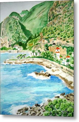 Cap D'ail On A Sunny Day  Metal Print