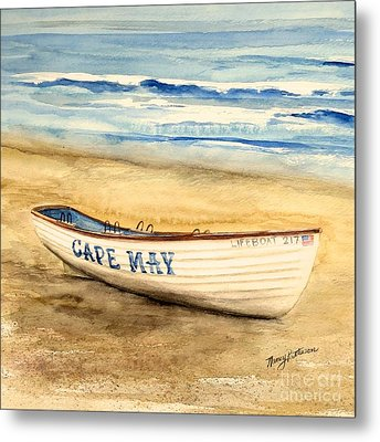 Cape May Lifeguard Boat - 2 Metal Print