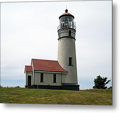 Cape Blanco Lighthouse Metal Print by AJ  Schibig