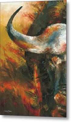 Cape Buffalo Metal Print by Christiaan Bekker