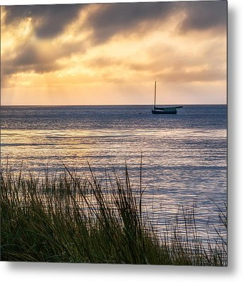 Cape Cod Bay Square Metal Print by Bill Wakeley