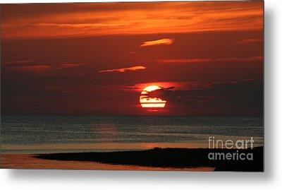 Cape Cod Bay Sunset Metal Print by Jim Gillen