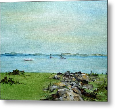 Cape Cod  Boats Metal Print by Judith Rhue