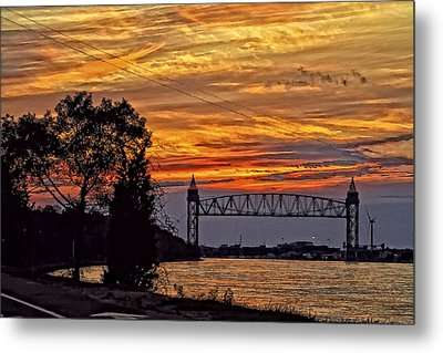 Cape Cod Canal Sunset  Metal Print by Constantine Gregory