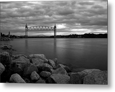 Metal Print featuring the photograph Cape Cod Canal Train Bridge by Amazing Jules