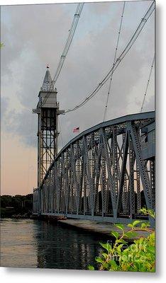 Cape Cod Canal Train Bridge Art Print Metal Print