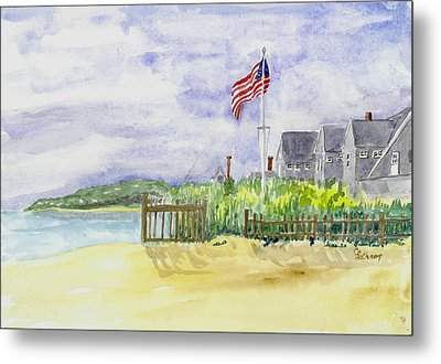 Massachusetts -cape Cod Cottages Metal Print