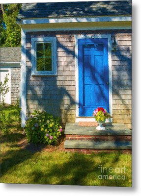 Cape Cod House Metal Print by Diane Diederich