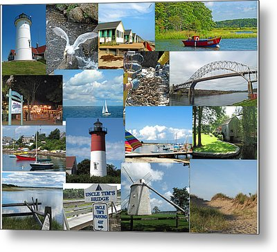 Cape Cod Vacation Land Metal Print by Barbara McDevitt