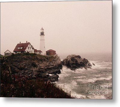 Cape Elizabeth In The Mist Metal Print by Patricia Januszkiewicz