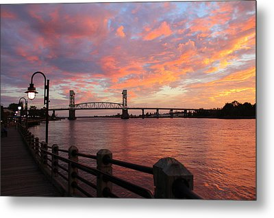 Cape Fear Bridge Metal Print